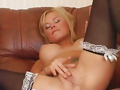 Hot Blonde Teasing & Fingering!