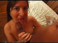 mature with big freckled tits fucks