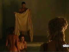 Lucy Lawless Topless Bathing
