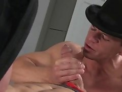 Sexy pirced boy doing blowjob