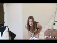 Busty brunette whore goes crazy taking part4