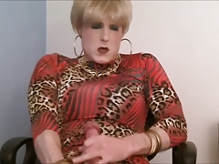 Blonde crossdresser