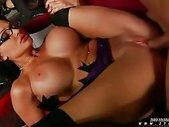 Alluring whore Aletta Ocean gets her face glazed with a milky load of cock spurt