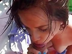 Sexy gf Kylie Sky pounded on a speedboat