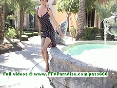 Jasmine cute brunette chick masturbatin pussy using a heel of her shoes