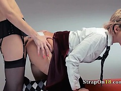 Neverending strap-on lezzs action