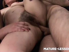 mature teaches newlyweds threesome sex