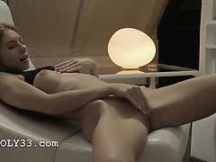 Exquisite blonde babe Anjelica teasing