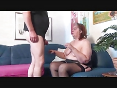 Fat Nasty Milf In Stockings Loves Sucking Penises