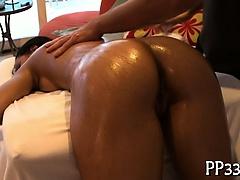Wild fingering during hot massage