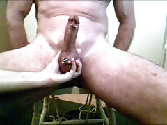 Me milking, sounding, ballslapping a straight big bullcock
