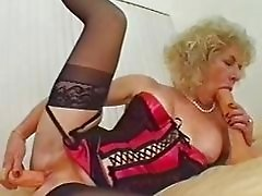 Dildoing MILF Has A Taste For Black Cock
