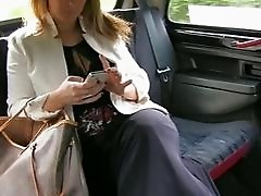 Horny Euro babe screwed in the backseat