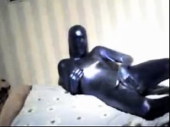 Fetishist in rubber suit