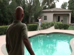 TS Penny Tyler giving head by the pool