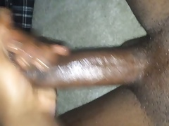 Beating my dick.....