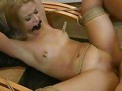 Hot girl gettin tied up and fucked rough