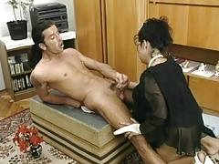 Saggy assed mature fucked in pantyhose