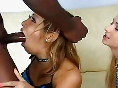 Hotties Hillary Scott and friend sucking a big black meat