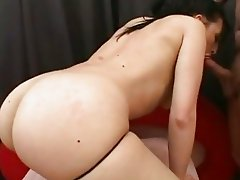 Cock loving bitch Ricki White gets her tight twat shagged hard from behind