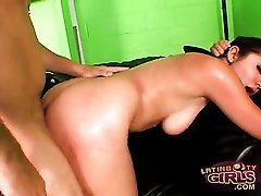 Sativa Rose fucked doggystyle by stiff shaft