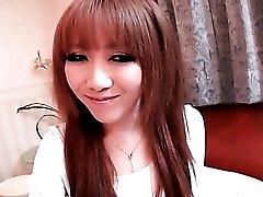 Fondling tiny tits of Japanese girl