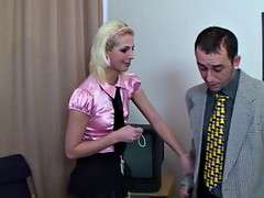 blonde babe gets her ass pounded hard