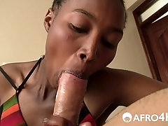 Perfect Ebony Booty Impaled By Big White Cock
