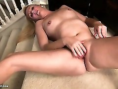 Mommy nipples are rock hard as she masturbates