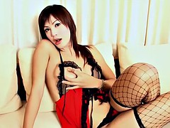 sexy asian ladyboy masturbating just for your pleasure