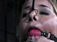 a couple of tight hotties tied together in kinky bdsm scene