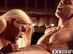 Blondie honey orally pleasured before railing her paramours spear