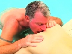 Gay twink sucking boys galleries Daddy Brett obliges of cour