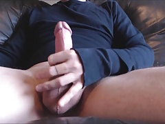 My solo 73 (Jerking out huge cumshot on couch with my toy)
