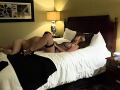 Busty blonde in high heels gets drilled deep on hidden cam