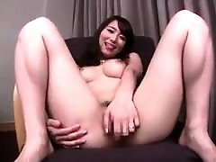 Buxom Asian cutie gets her hairy peach vibrated and fucked