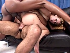 two brazilian cocks in her ass