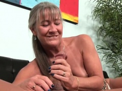 Ravishing Stepmom Giving Handjob