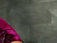 Glam bukkaked slut fucks at gloryhole