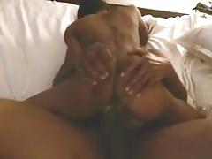 Ebony Tatted Stripper Rides Dick In Hotel