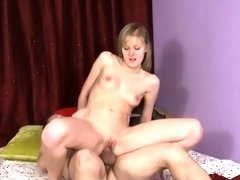 Glamorous darling acquires lusty plowing from horny dude