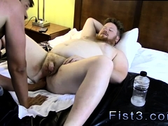Gay assfull of cum movie Sky Works Brock's Hole with his Fis