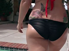 Two spoiled rich girls want to fuck the pool boy