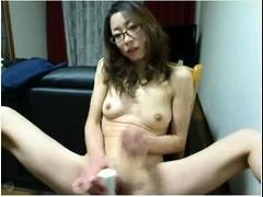 Japanese solo masturbation