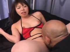 Maya Tsukino licks dong and screams in fuck