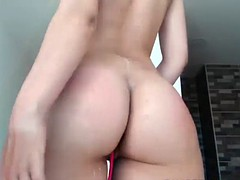 pretty nice ass shaved fucks her pussy using a sex toy