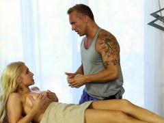Busty massage beauty plowed by her masseur