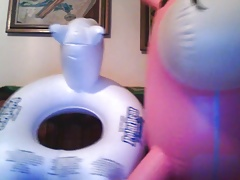 Inflatable Bear and Unicorn