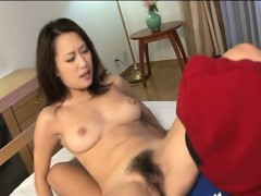 Sex with oriental hirsute attractive gal