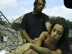 Busty amateur teen outdoor hardcore facial action